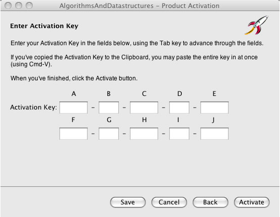 Enter Activation Key