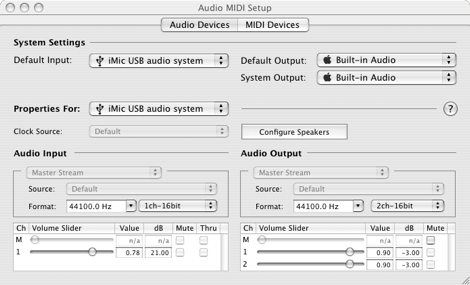 Audio Setup Mac